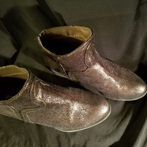 Not Rated Ankle Booties 7.5 Brown/Gold